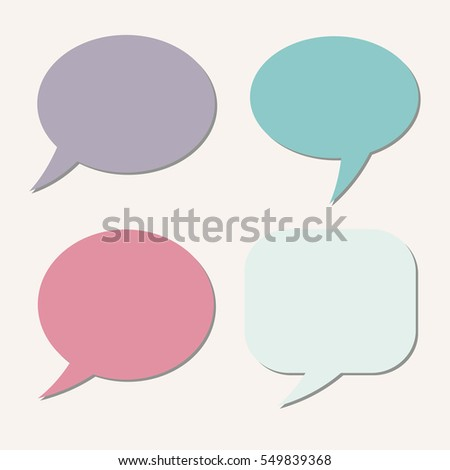 Thought frame. Speech bubble. Dream cloud. Talk balloon. Quote box.  Set of vector illustration icons