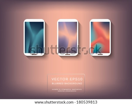 Three abstract backgrounds for wallpapers or applications background. Fully scalable eps10 vector illustration