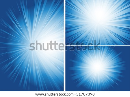 three background with shining light - stock vector