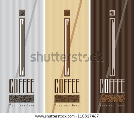 three banners for coffee beans