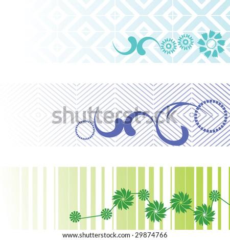 three banners - vector set - stock vector