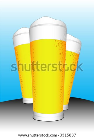 THREE BEERS (vector)