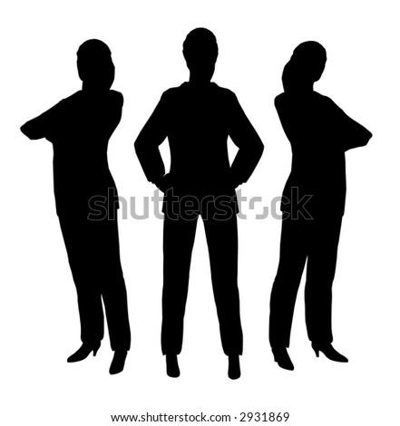 three businesswoman - stock vector