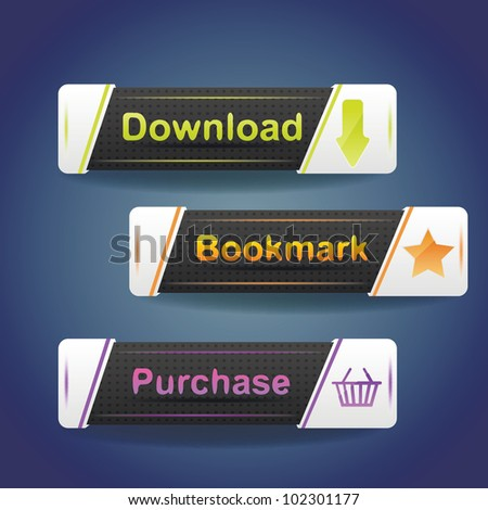 Three buttons with arrow and word download now!