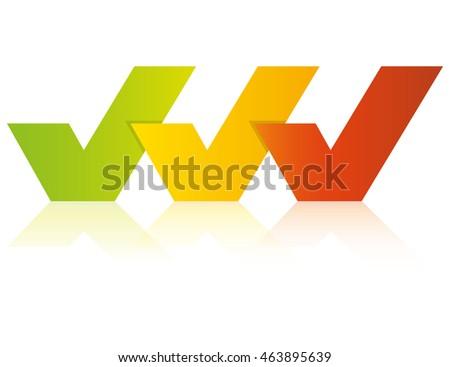 Three Check Marks Presentation Template Stock Vector 463895639 ...