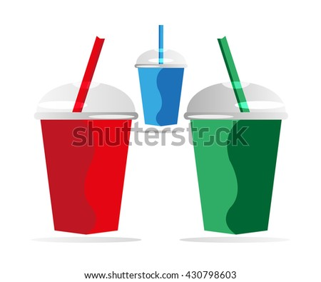 Three colourful Glass background