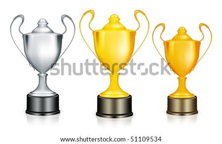 Three Cups, vector - stock vector