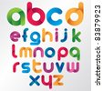 Three Dimension Colorful Alphabet Set - stock photo