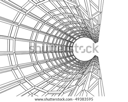 three-dimensional abstract - stock vector