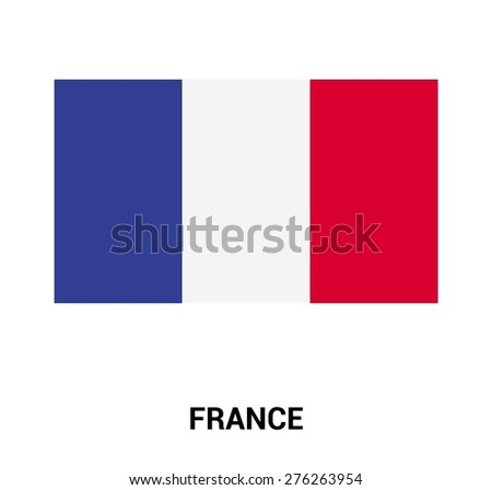 three dimensional 3d France flag in a speech bubble . education foreign language concept . country's name label in bottom . Vector illustration - stock vector