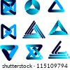 three-dimensional quality vector-icon  with a lot of variety ideal for business , flyer and presentation/Set of elements - stock vector