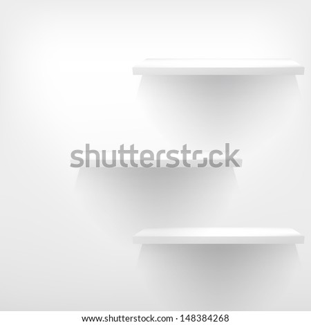 Three empty shelves. EPS 10 - stock vector