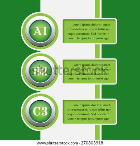 three green modern business and media info graphics banners - design templates - stock vector
