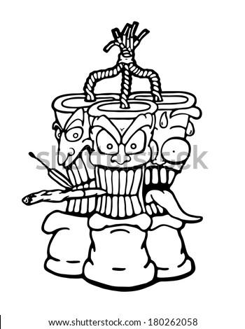 how to draw ravana face