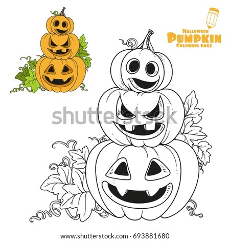 Three Lantern Pumpkins Cut Out Grin Stock Vector 693881680 ...