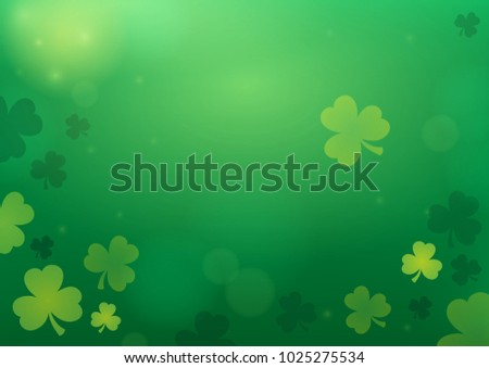 Three leaf clover abstract background 2 - eps10 vector illustration.