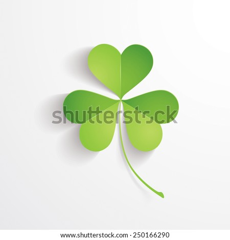 Three leaves clover - stock vector