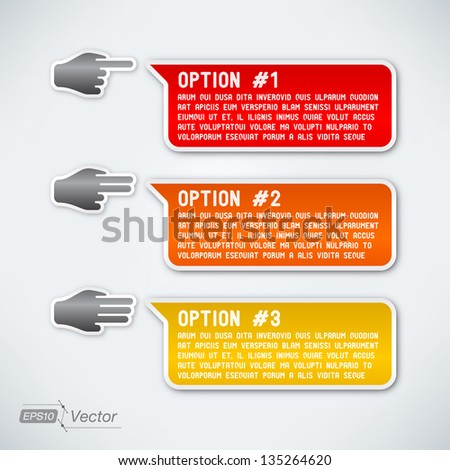Three options - layered eps10 - stock vector