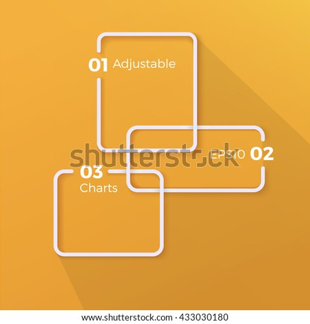 Three Options List Menu Text Box Elements for Your Geometric Template - stock vector