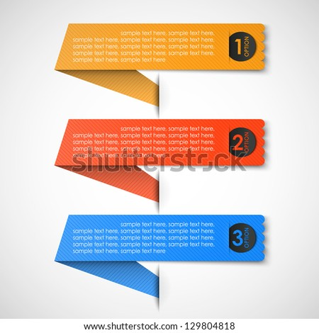 three paper option - stock vector