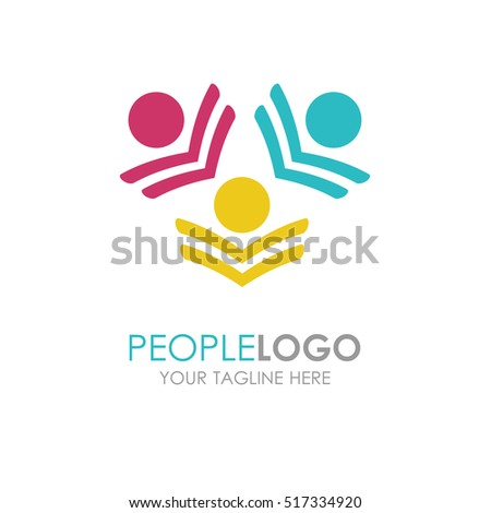 Abstract People Logo Sign Icon Blue Stock Illustration ...