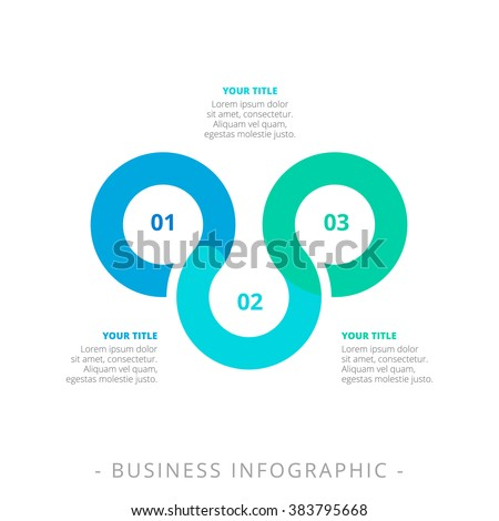 Three Step Process Chart Template - stock vector
