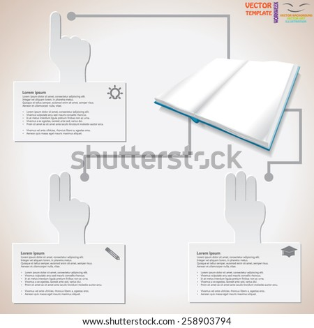 Three Step To Be Success. - stock vector