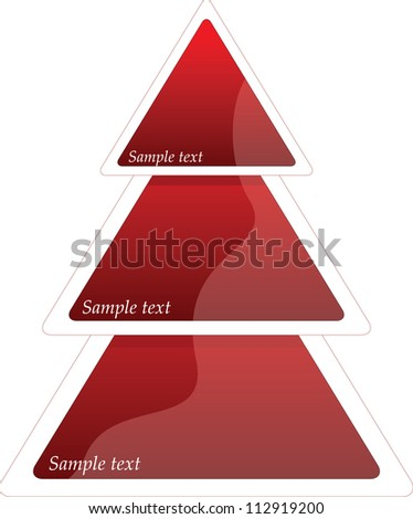 Three steps triangle diagram, vector illustration