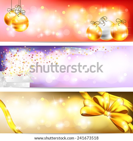 Three styles of Colorful night celebration and sales ornament banner background, create by vector  - stock vector