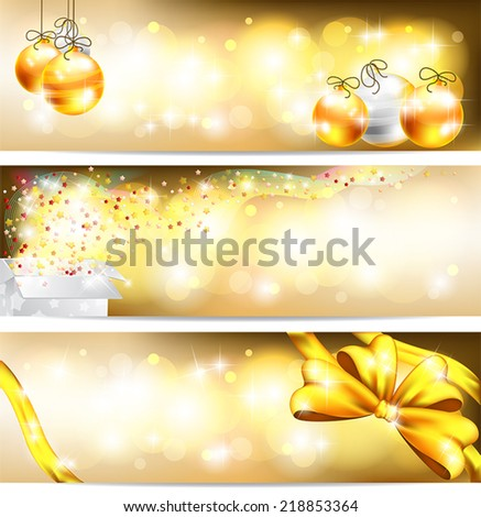 Three styles of golden celebration and sales ornament banner background, create by vector  - stock vector
