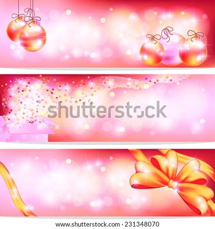 Three styles of pink celebration and sales ornament banner background, create by vector  - stock vector