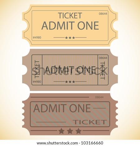 three tickets.vector illustration. - stock vector