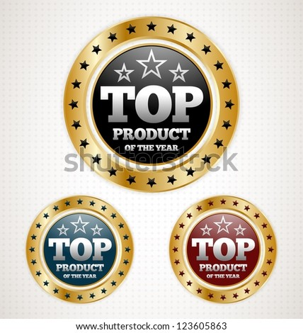 Three Top Product Gold Badges