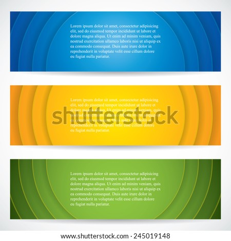 Three universal banner style web element.Vector - stock vector