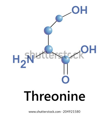 threonine molecule structure, medical vector illustration. - stock vector