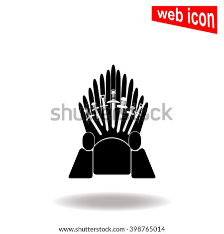 Iron Throne Silhouette Throne Stock Images, R...
