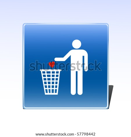 Throwing out the heart - stock vector