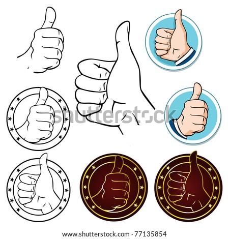 thumb up - stock vector