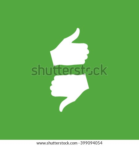 thumb up and down icon - stock vector