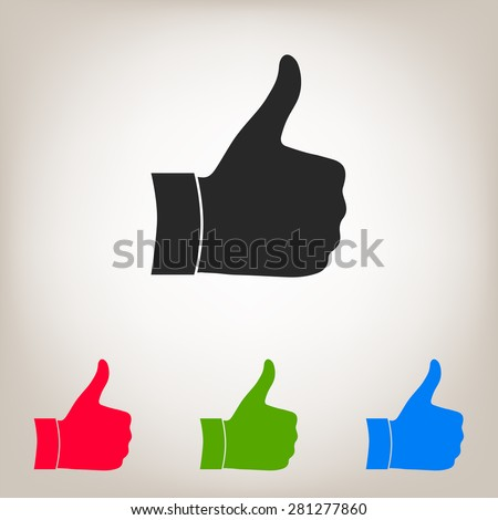 Thumb up gesture - icon.