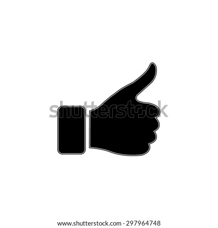 thumb up gesture - vector icon - stock vector