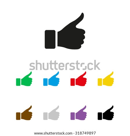 thumb up gesture - vector icon