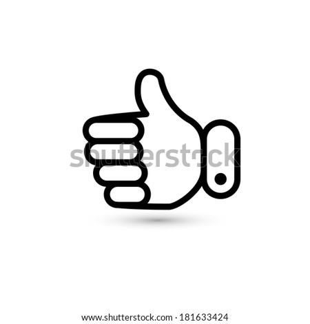 thumb up. hand icon. vector eps8 - stock vector