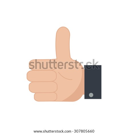 Thumb up icon. Like icon. Simple flat vector. EPS 10. - stock vector