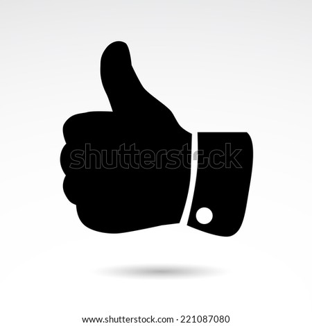Thumb up icon - social media popular sign isolated on white background. Vector icon. - stock vector