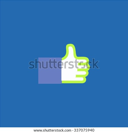 Thumb up. Icon Vector. Icon Picture. Icon Graphic. Icon Art. Icon JPG. Icon JPEG. Icon EPS. Icon AI. Icon FLAT. Icon SIMPLE - stock vector