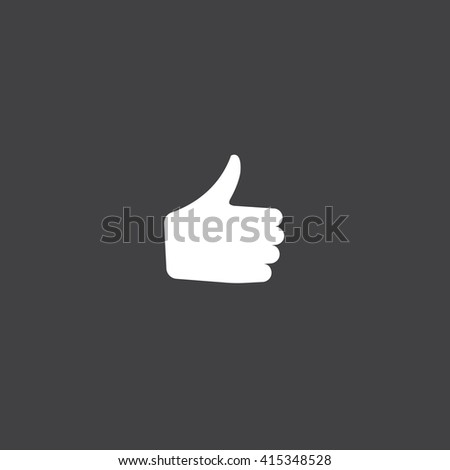 thumb up icon vector, solid illustration, pictogram isolated on black - stock vector