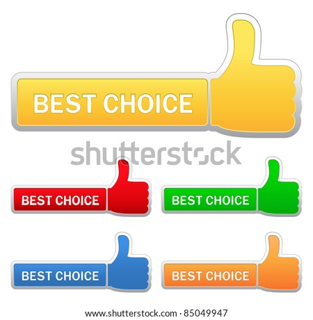 Thumb up signs - stock vector