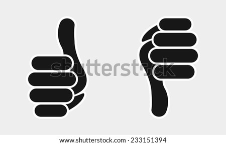 thumb yes or no icon - stock vector