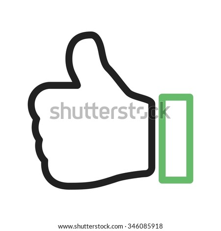 Thumbs, social, like icon vector image. Can also be used for IT and communication. Suitable for web apps, mobile apps and print media. - stock vector